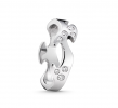 Georg Jensen Fusion ring center hvidguld