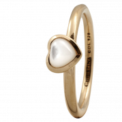 Christina Ring - Heart Mother Of Pearl, Gold Plated