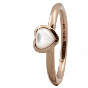 Christina Ring - Heart Mother Of Pearl, Rosegold Plated