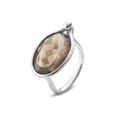 Georg Jensen Savannah ring Røgkvarts - Stor