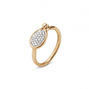 Georg Jensen Savannah Ring Diamanter 18 kt - Lille