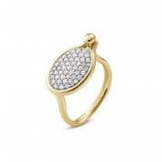 Georg Jensen Savannah Ring Diamanter 18 kt - Mellem