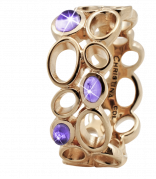 Christina Ring - Big Amethyst Bubble, Gold Plated