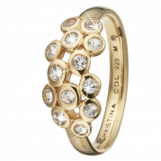 Christina Ring - Champagne Love, Gold Plated