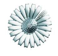 Georg Jensen Daisy broche med brillanter