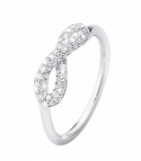 Georg Jensen Infinity pave ring med brillanter