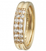 Christina Ring - Eternity Topaz, Gold Plated