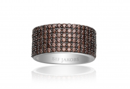 Sif Jakobs Ring - Corte Cinque Brown