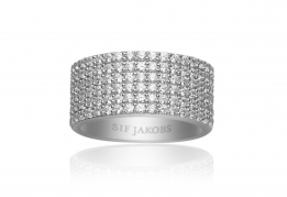 Sif Jakobs ring - Corte Cinque white