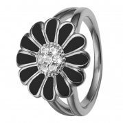 Christina Ring - Black Marguerite, Sølv