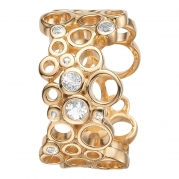 Christina ring - Cocktail, Gold Plated