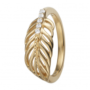 Christina Ring - Feather, Gold Plated