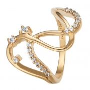 Christina Ring - Love Energy, Gold Plated