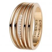 Christina Ring - Open Energy, Gold Plated